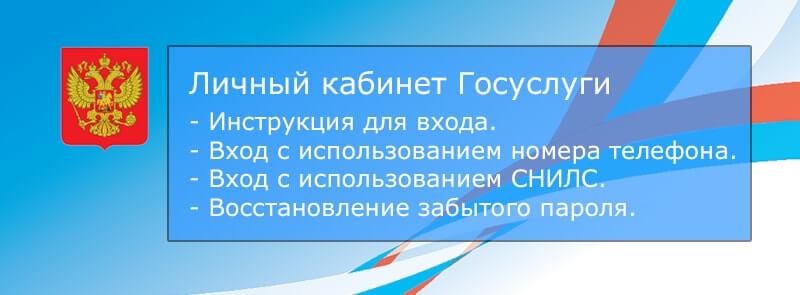 Личный кабинет Госуслуги РФ инструкция